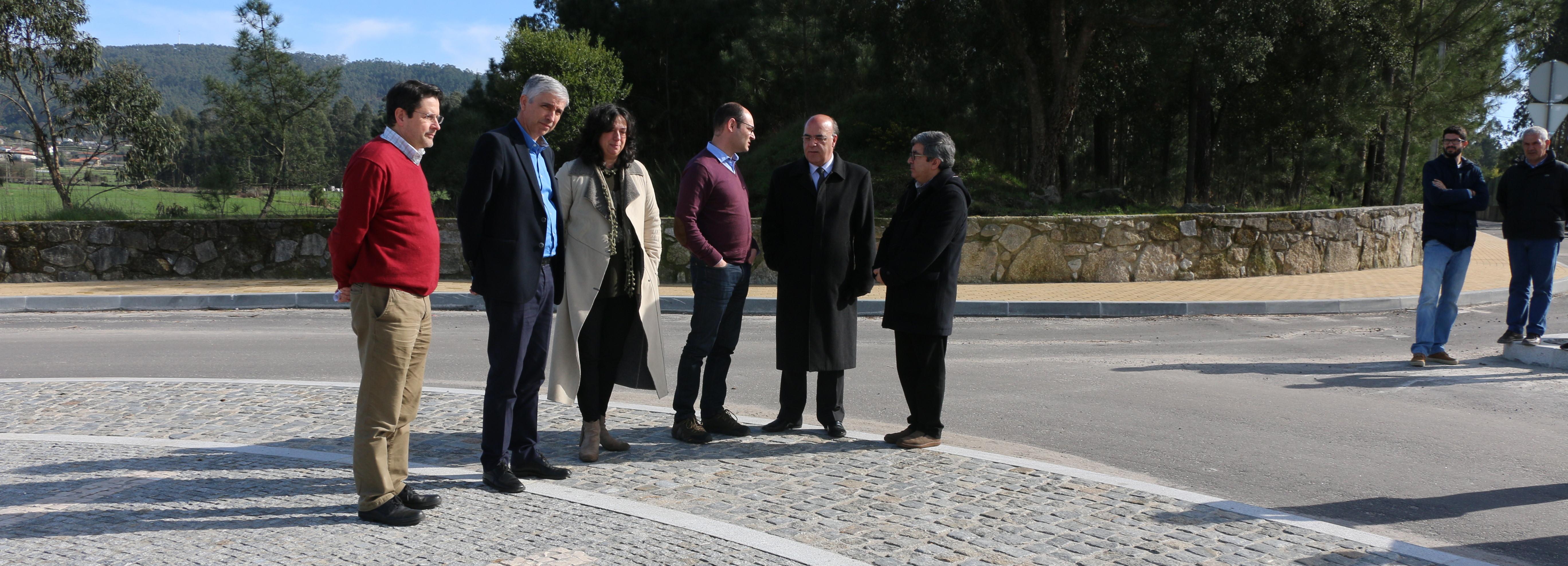 Presidente da Câmara visitou obra do Caminho Municipal 1115 entre Milhazes e Faria
