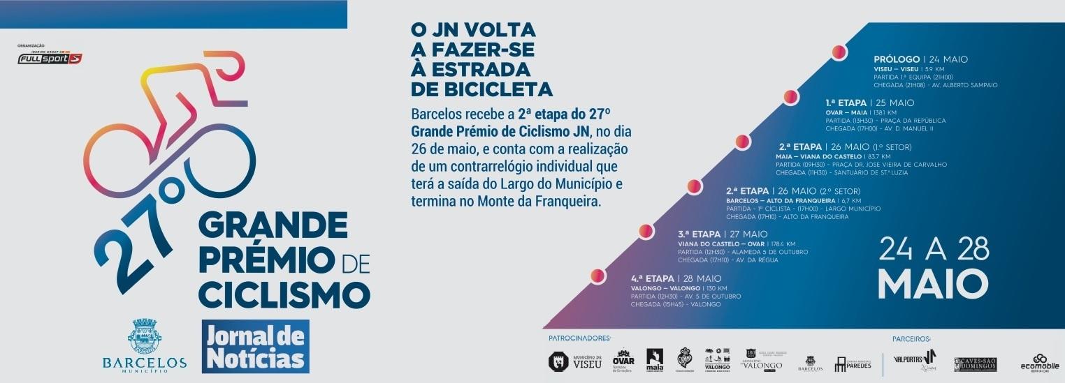 Barcelos recebe a 2ª etapa do 27º Grande Prémio de Ciclismo JN
