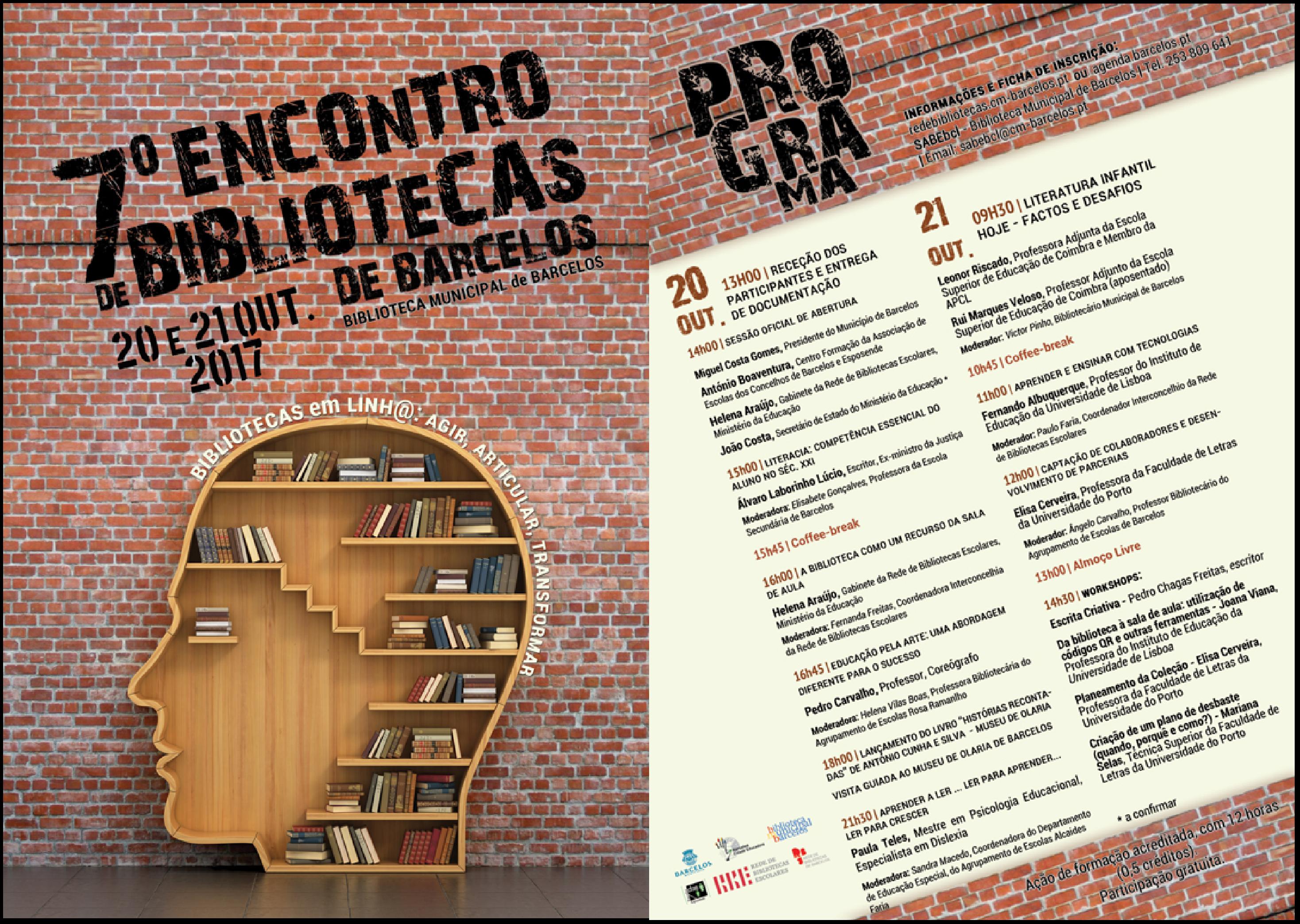 Município de Barcelos promove 7.º Encontro de Bibliotecas de Barcelos
