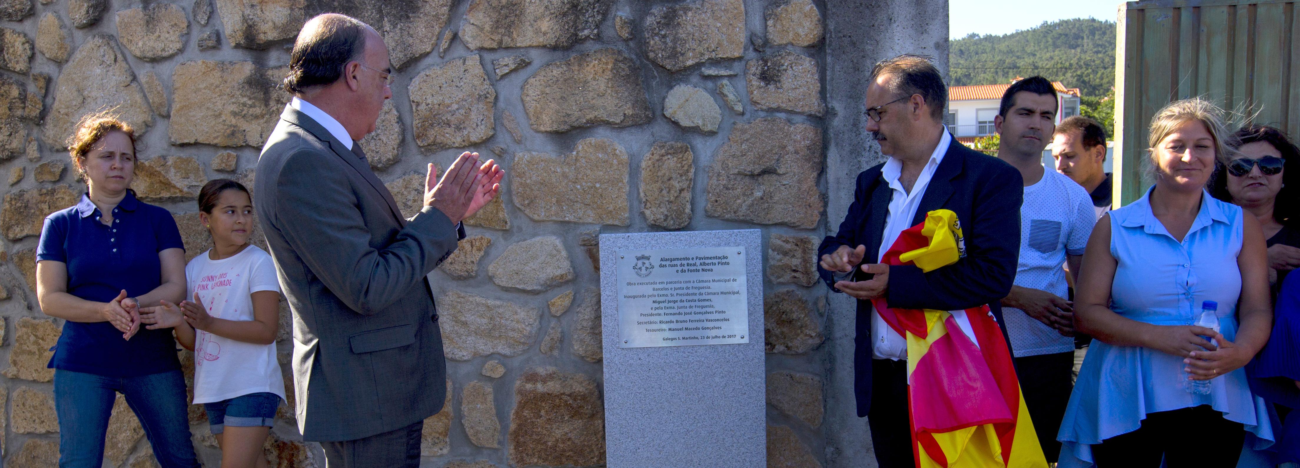 Presidente da Câmara inaugurou obras em Galegos S. Martinho