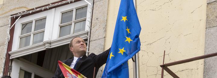 Hastear da Bandeira da União Europeia no Dia da Europa no Município de Barcelos