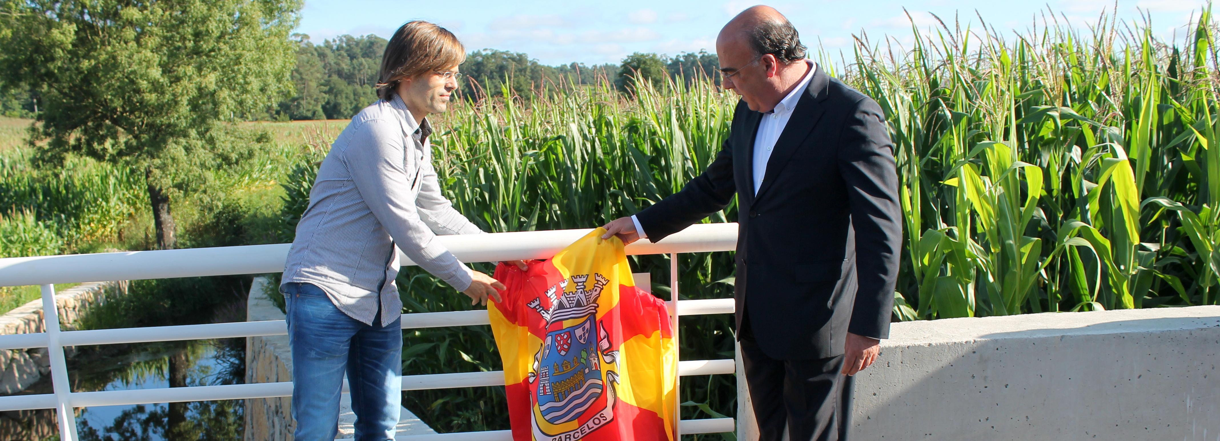 Presidente da Câmara inaugurou reconstrução da ponte do Picoto em Macieira de Rates
