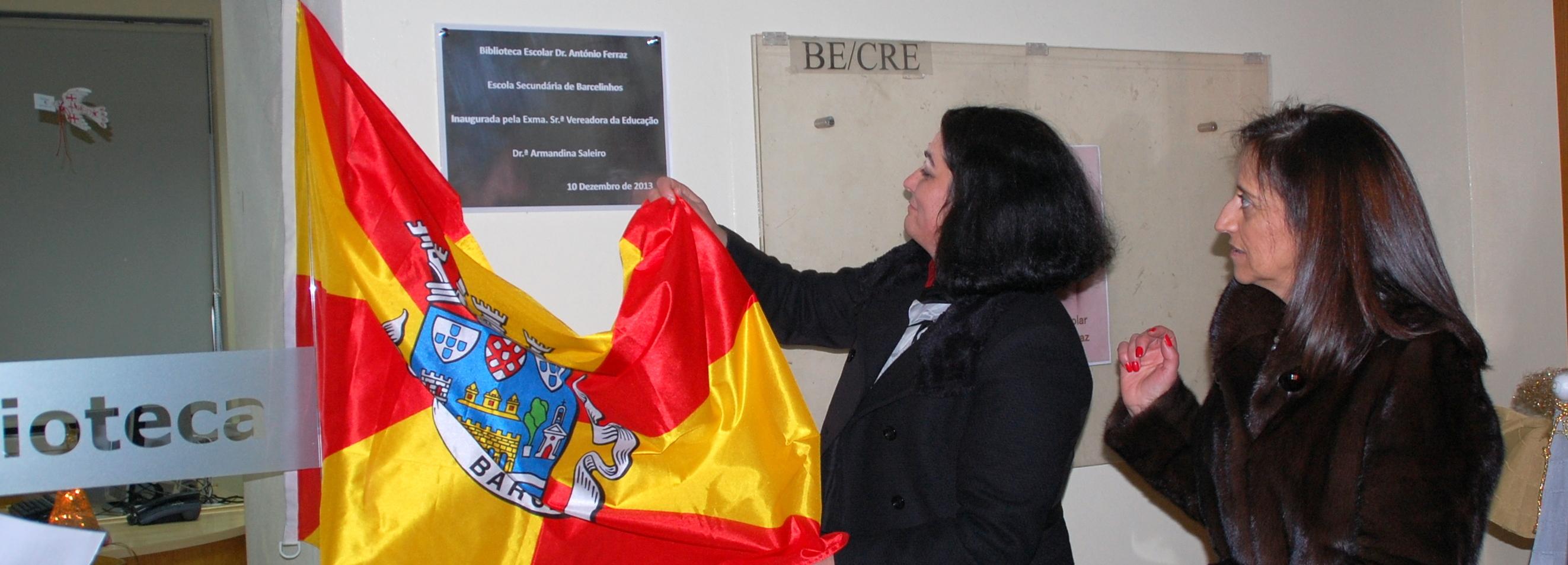 António Ferraz é o patrono da Biblioteca da Secundária de Barcelinhos