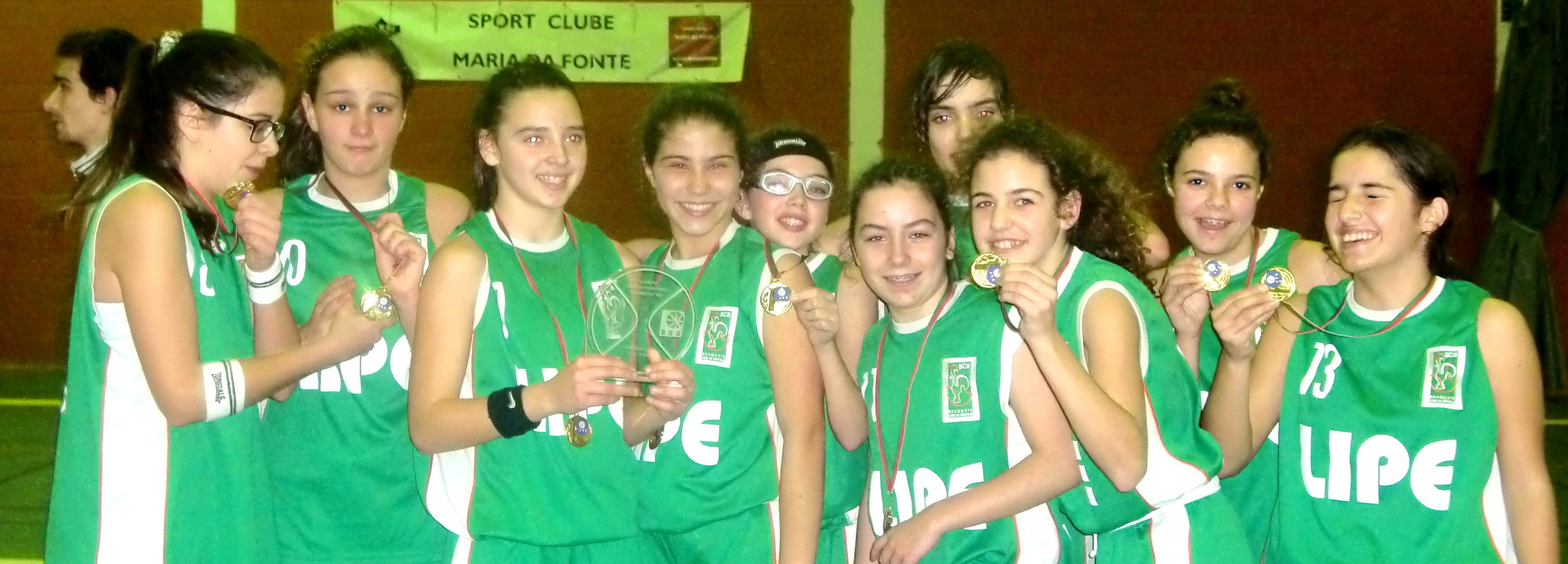 Basquete Clube de Barcelos campeão distrital de sub-14