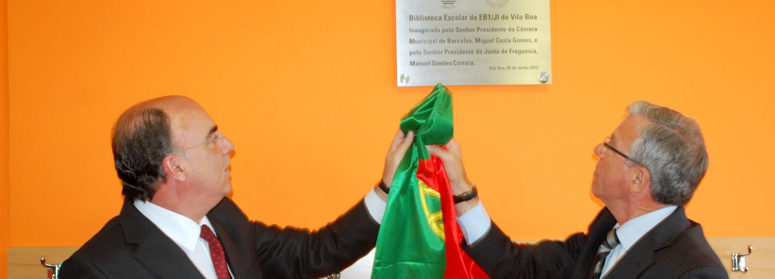 Presidente da Câmara inaugurou biblioteca escolar da EB1/JI de Vila Boa