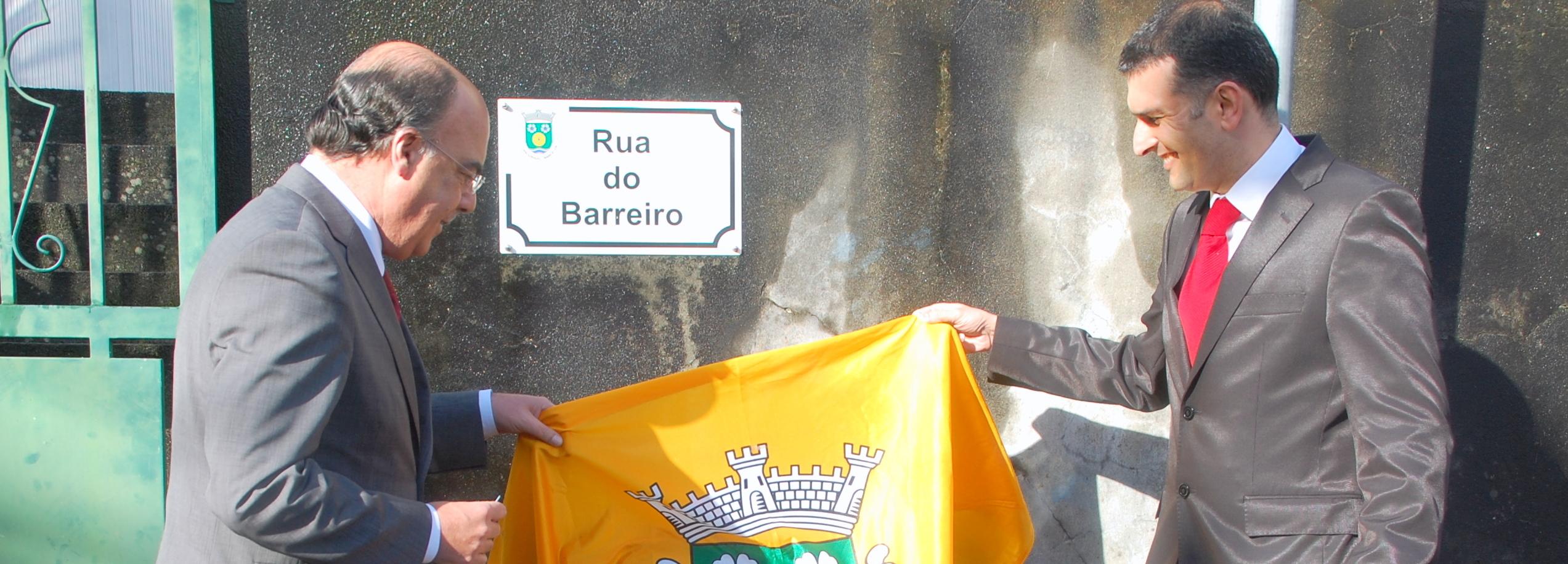 Presidente da Câmara inaugurou requalificação de ruas em Cossourado