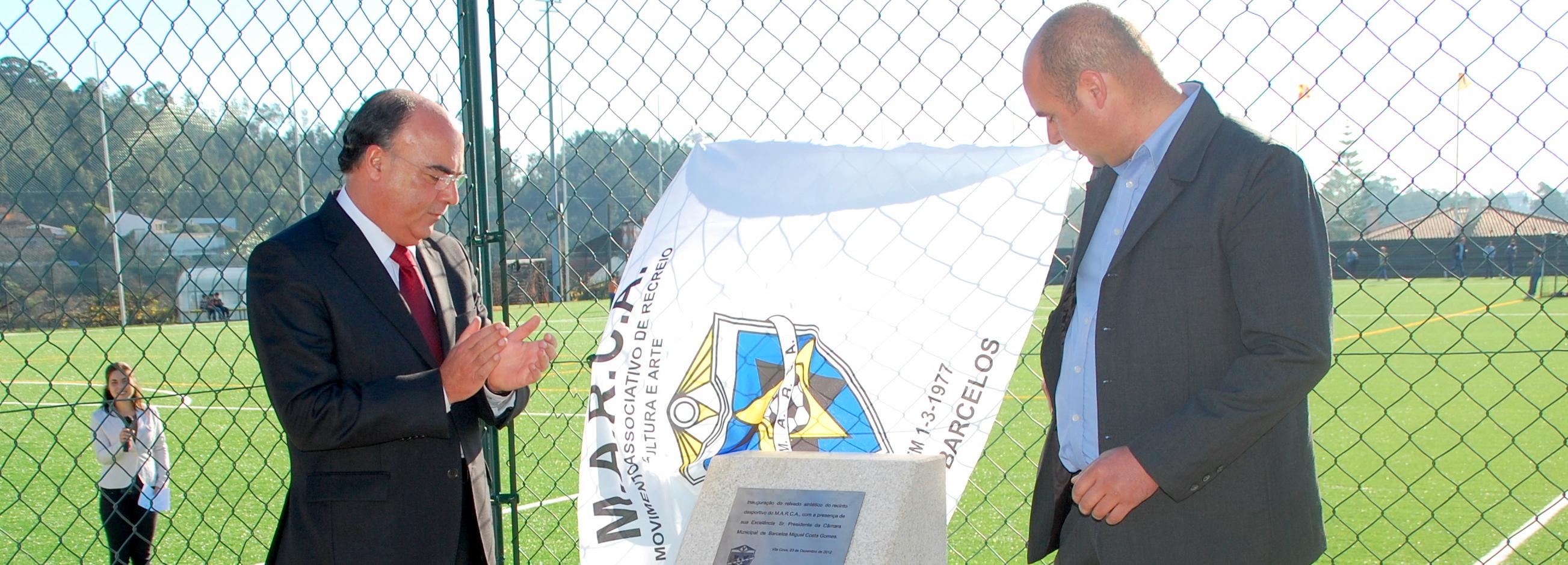 Presidente da Câmara inaugurou relvado do campo de futebol do MARCA