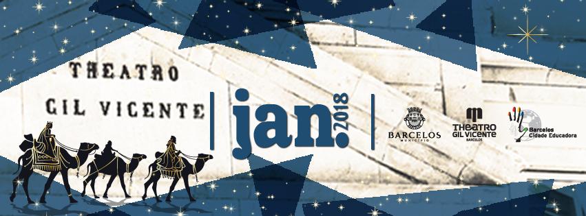 Programação cultural de janeiro do Teatro Gil Vicente