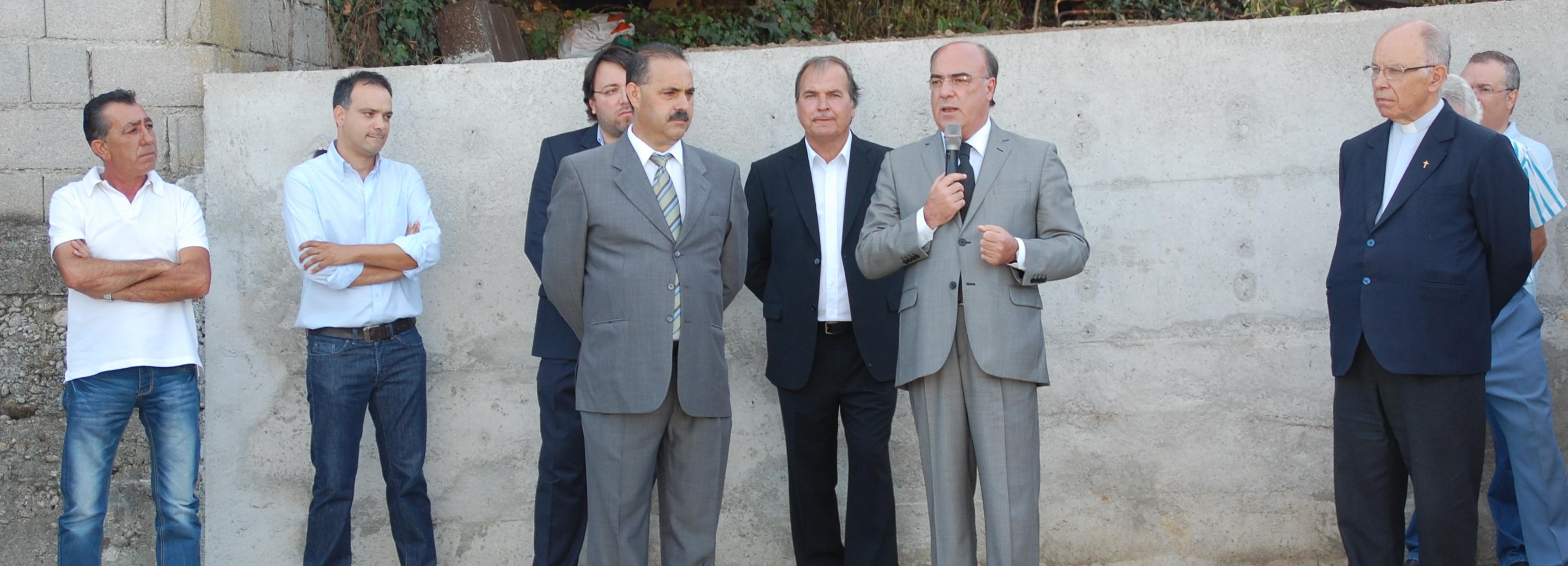 Presidente da Câmara visitou obras anexas ao cemitério de Galegos S. Martinho