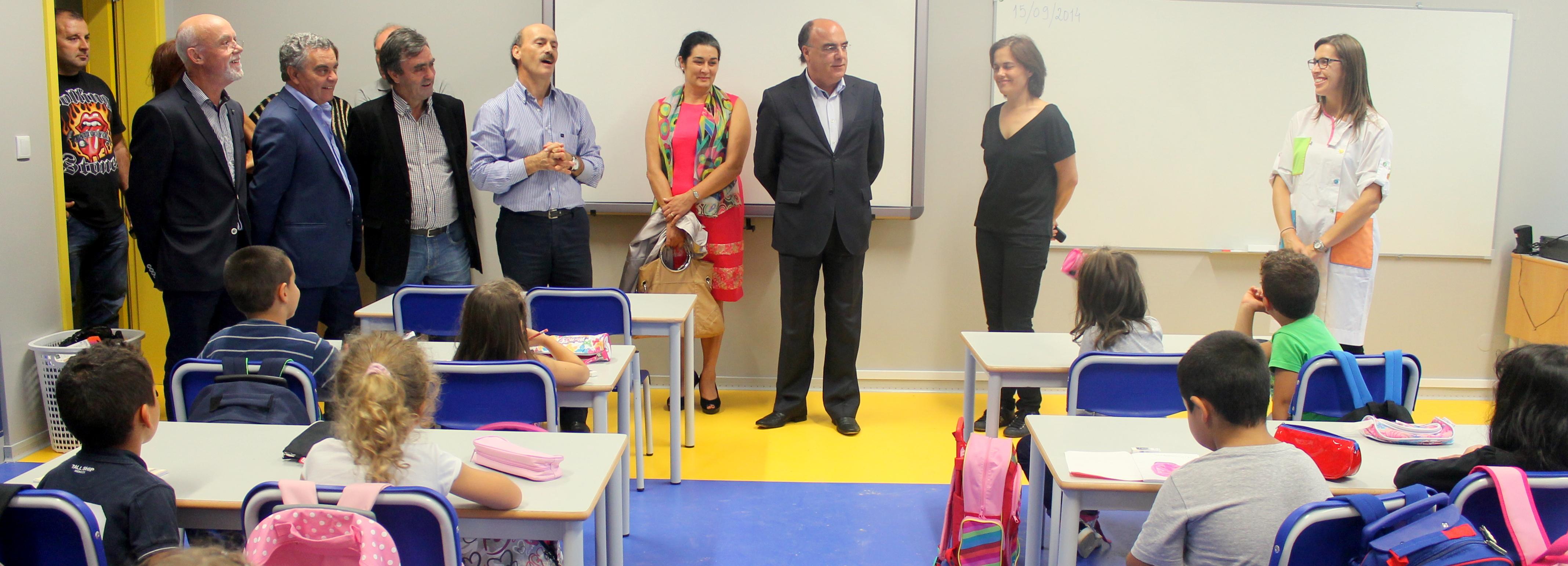 Presidente da Câmara visitou Centro Escolar de Arcozelo marcando o início do novo letivo