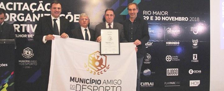 Município de Barcelos reconhecido como Município Amigo do Desporto