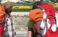 perto de 20% dos peregrinos que chegaram a sant...