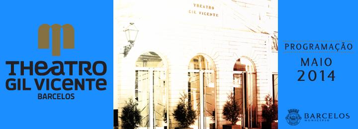 Programação de maio do Teatro Gil Vicente
