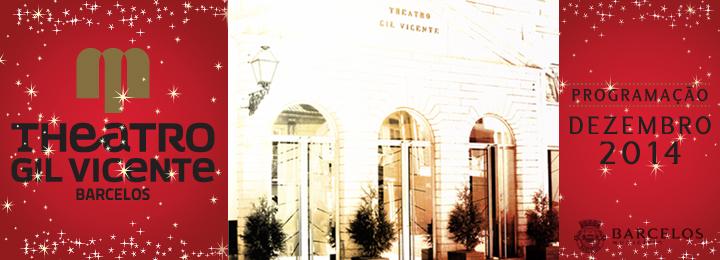 Programação de dezembro do Teatro Gil Vicente
