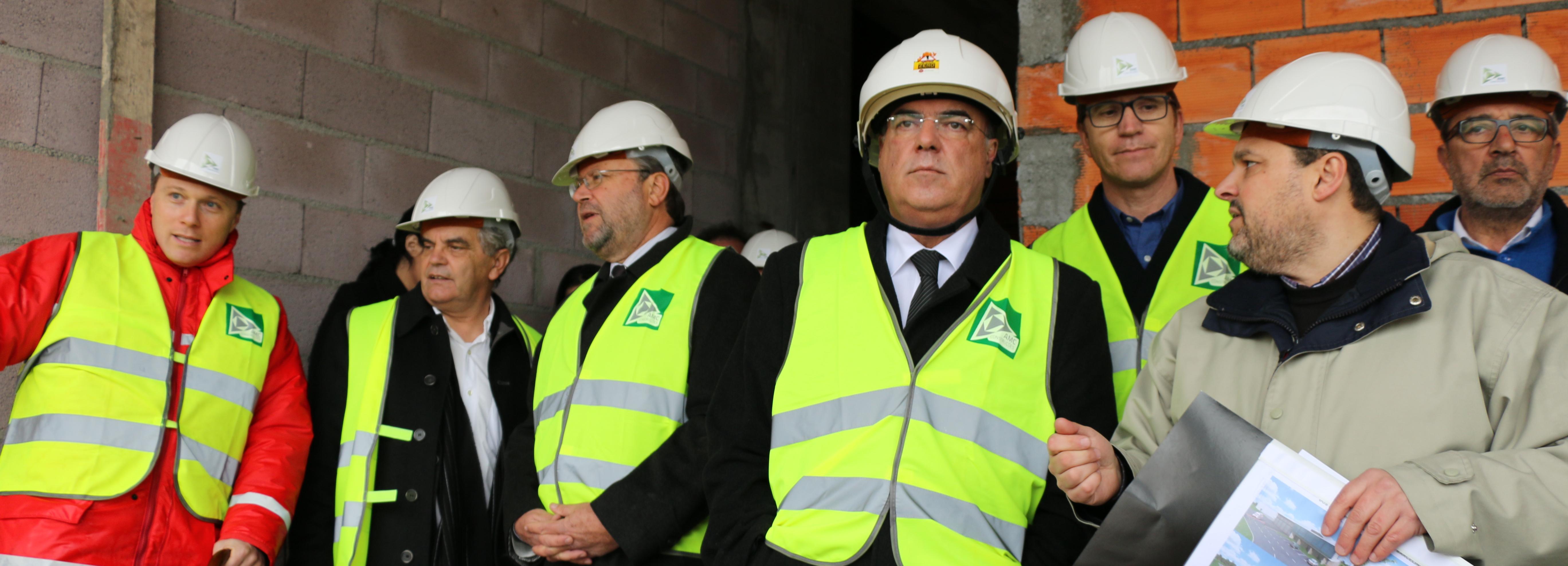 Presidente da Câmara visitou obras do novo quartel dos Bombeiros de Barcelinhos