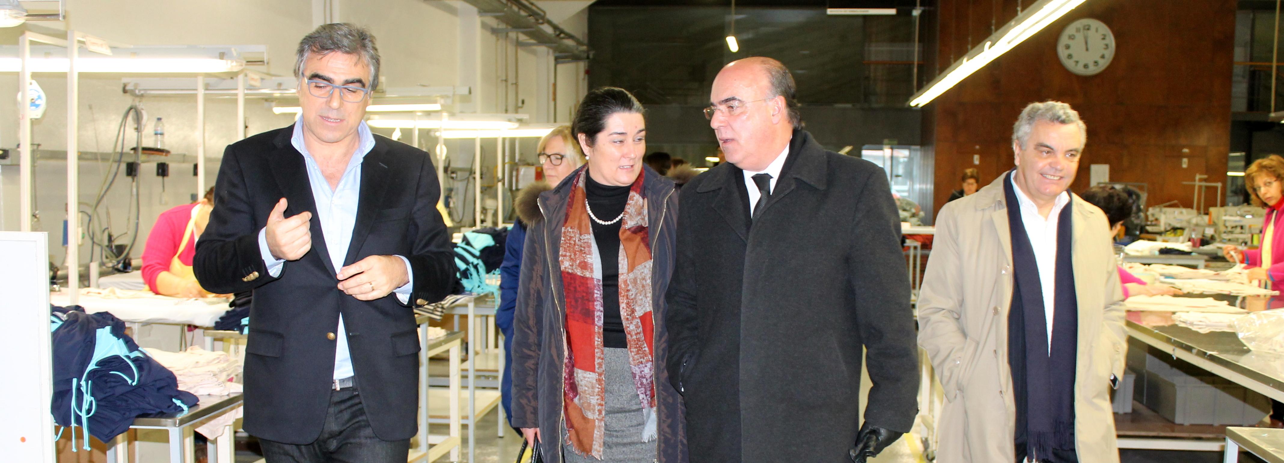 Presidente da Câmara visitou empresa têxtil de excelência