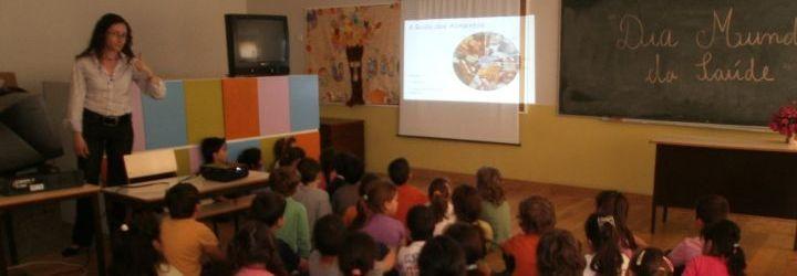 Palestra sobre higiene e saúde alimentar na EB1 de Rio Covo Sta. Eulália