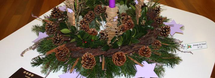 Exposição de Arranjos de Natal no Posto de Turismo