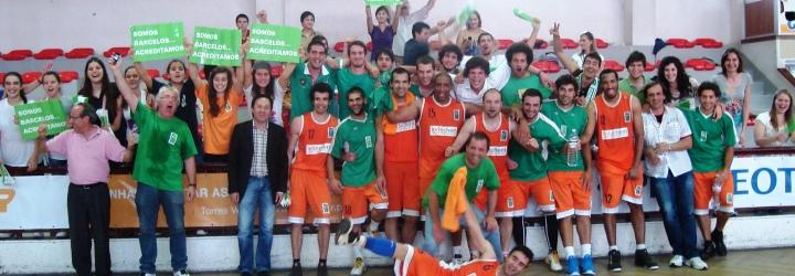 Equipa sénior masculina do BCB subiu à Liga Portuguesa de Basquetebol