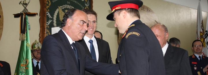 Presidente da Câmara Municipal na tomada de posse do novo Comandante dos Bombeiros Voluntários de Barcelinhos