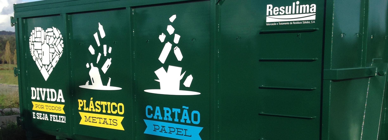 Câmara instala contentor para recolha seletiva dos resíduos da Feira Semanal