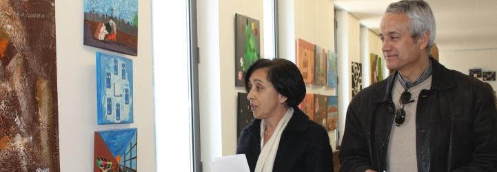 Exposição de pintura do ciclo Diversidartes na Escola Secundária Alcaides de Faria