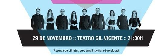 Coro de Câmara atua sábado no Teatro Gil Vicente