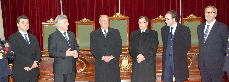 Presidente da Câmara recebe os Bombeiros Voluntários de Barcelos