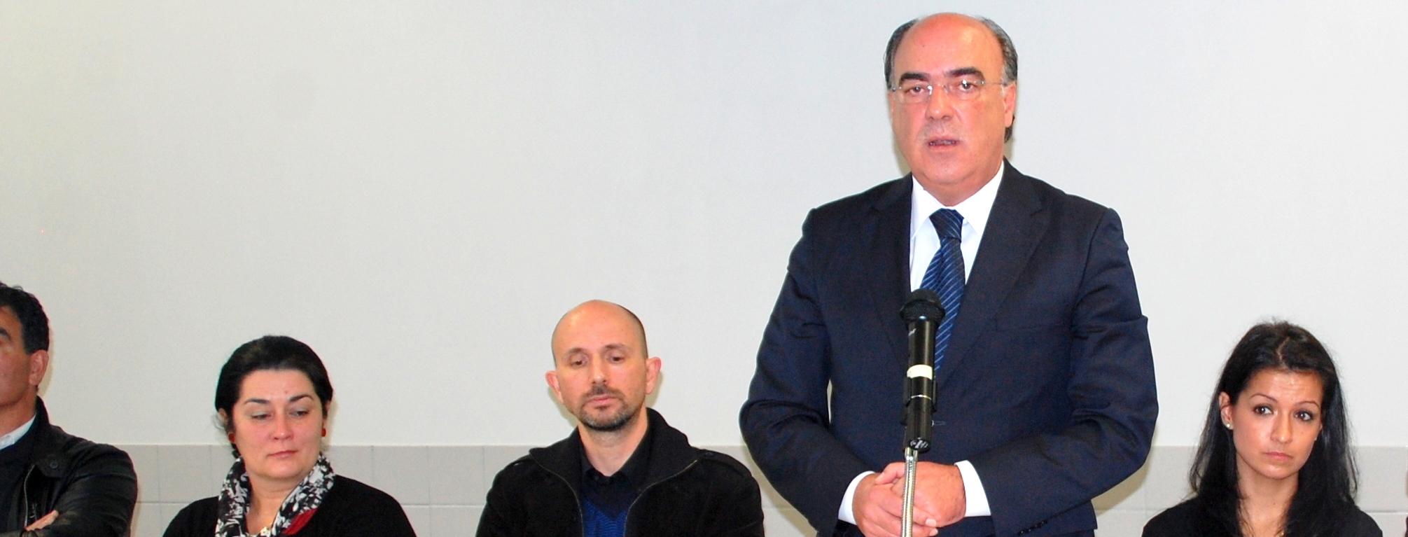 Presidente da Câmara no lançamento de projeto de promoção da investigação na Escola Secundária de Barcelos
