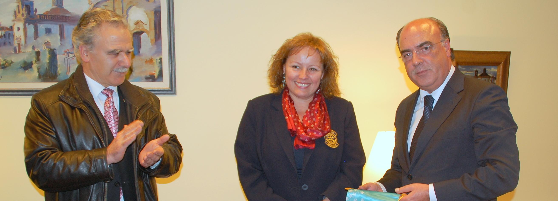 Presidente da Câmara recebeu Governadora do Rotary Clube