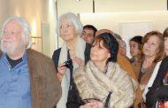 júlio pomar na inauguração de exposição na gale...