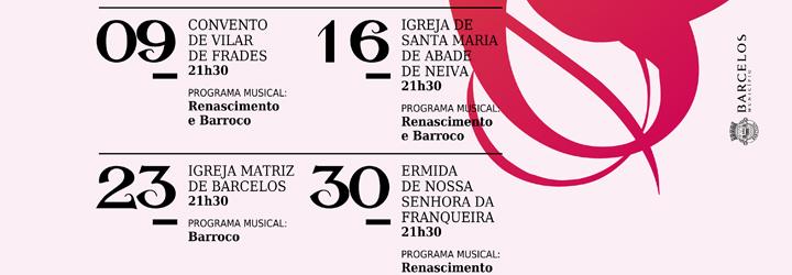 Música do Renascimento e do Barroco em igrejas de Barcelos