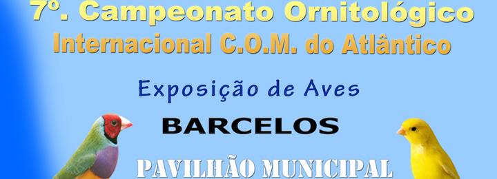 Campeonato internacional de ornitologia no Pavilhão Municipal