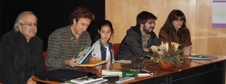 Escritor e ilustradores em encontro com alunos de Barcelos