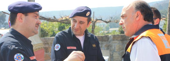 Presidente da Câmara enaltece esforço dos bombeiros e da população contra os incêndios no concelho