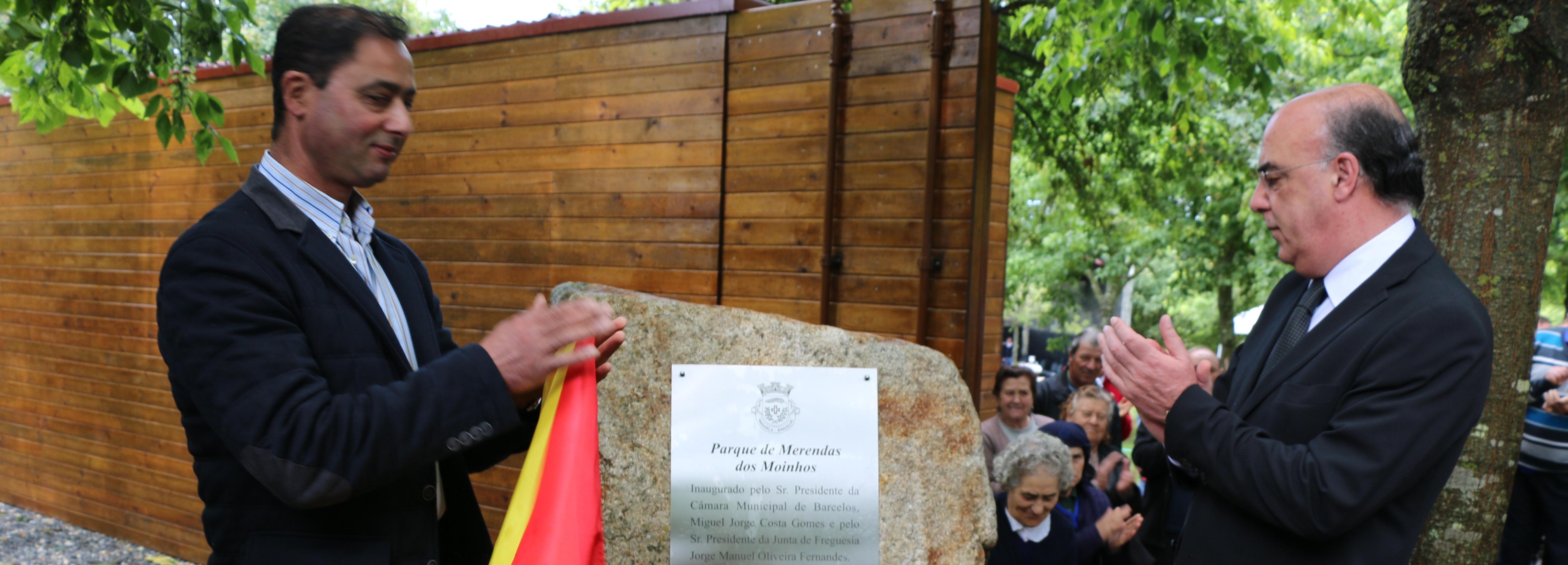 Presidente da Câmara inaugurou Parque de Merendas dos Moinhos em Paradela