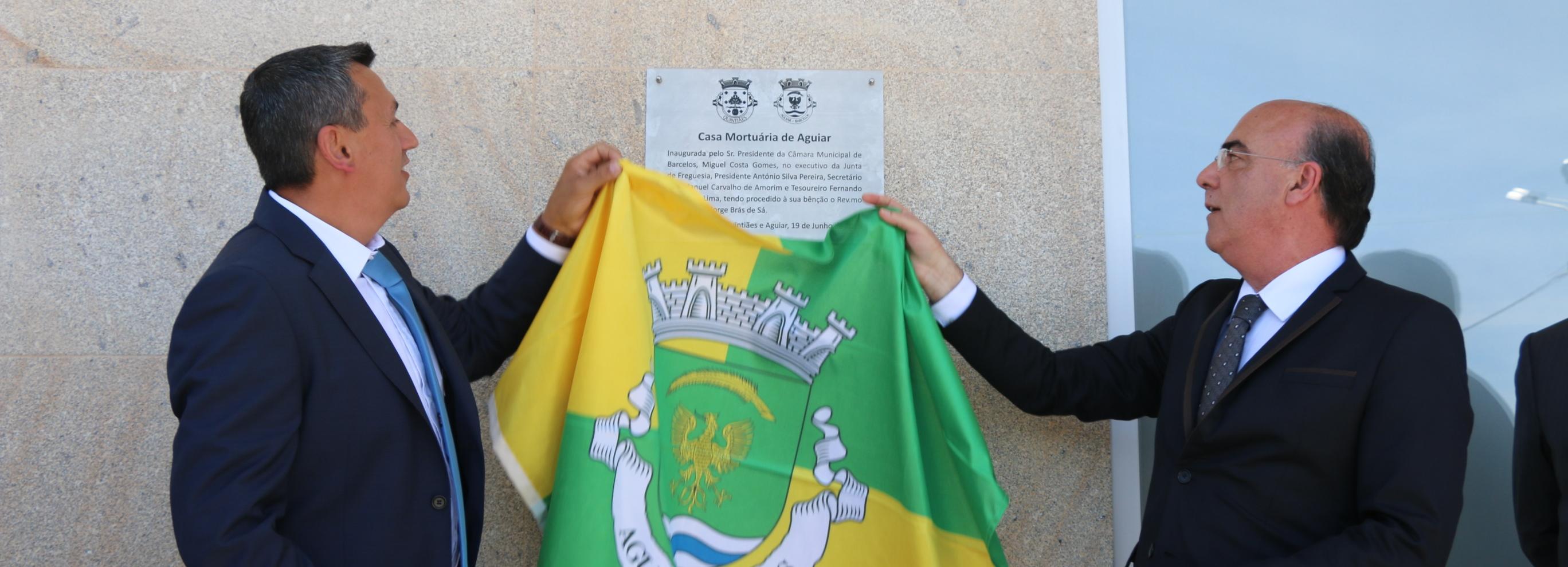 Presidente da Câmara inaugurou Casa Mortuária de Aguiar
