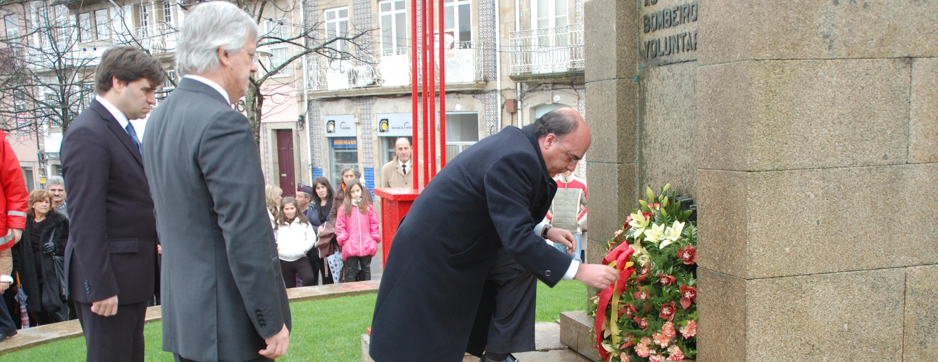 Presidente da Câmara recebe Bombeiros de Barcelos na passagem do 131.º aniversário da Associação