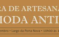 feira de artesanato à moda antiga, música e exp...