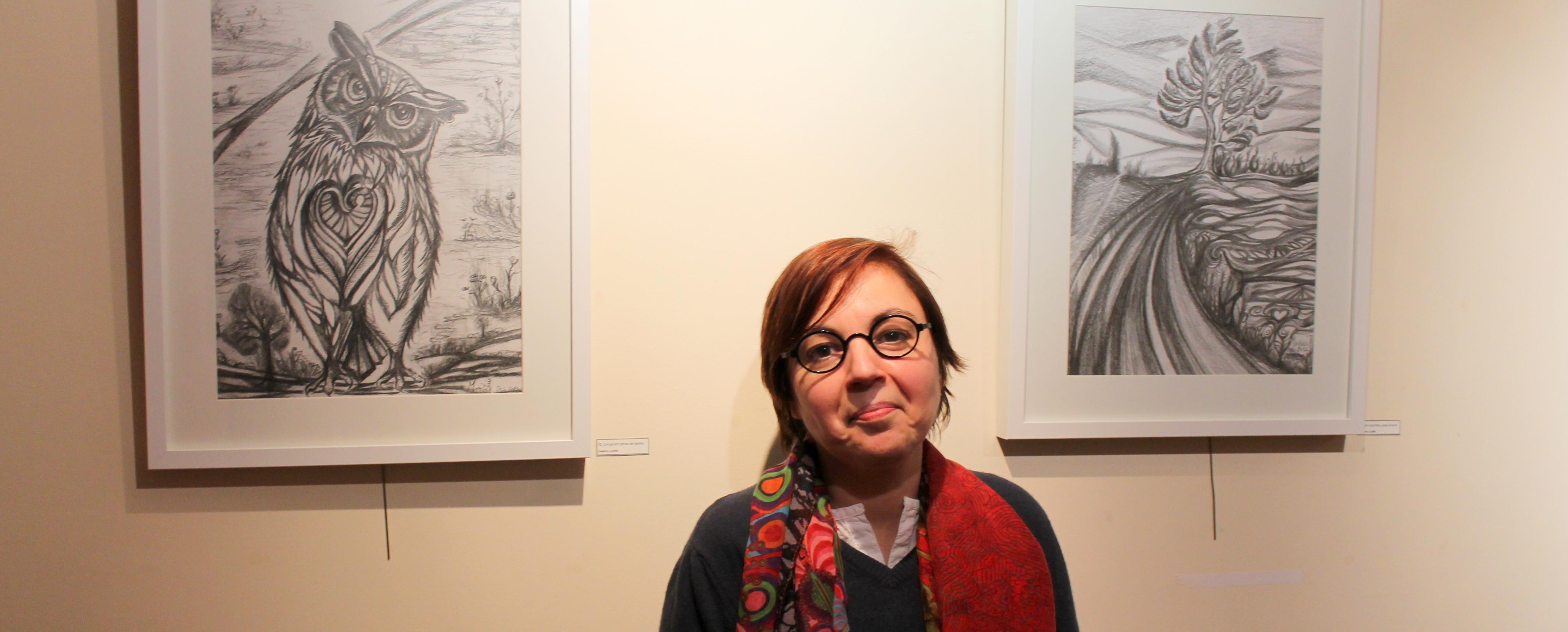 Exposição de Maria Luís na Biblioteca Municipal de Barcelos