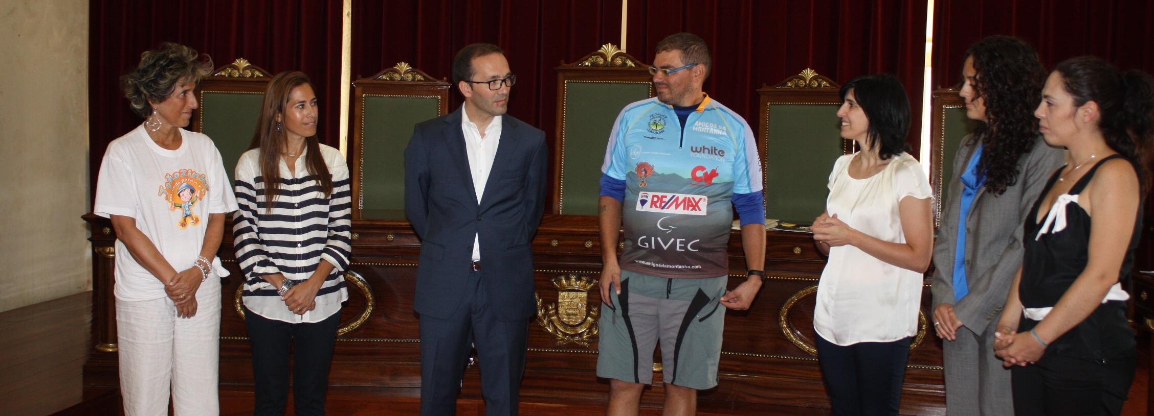 José Figueiredo recebido na Câmara Municipal depois de 32 dias a Pedalar com Alma