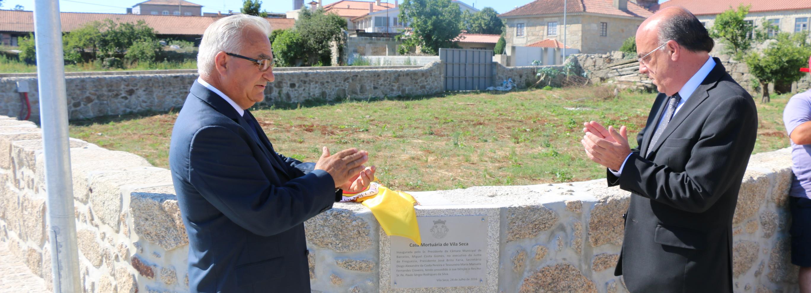 Presidente da Câmara inaugura Casa Mortuária de Vila Seca