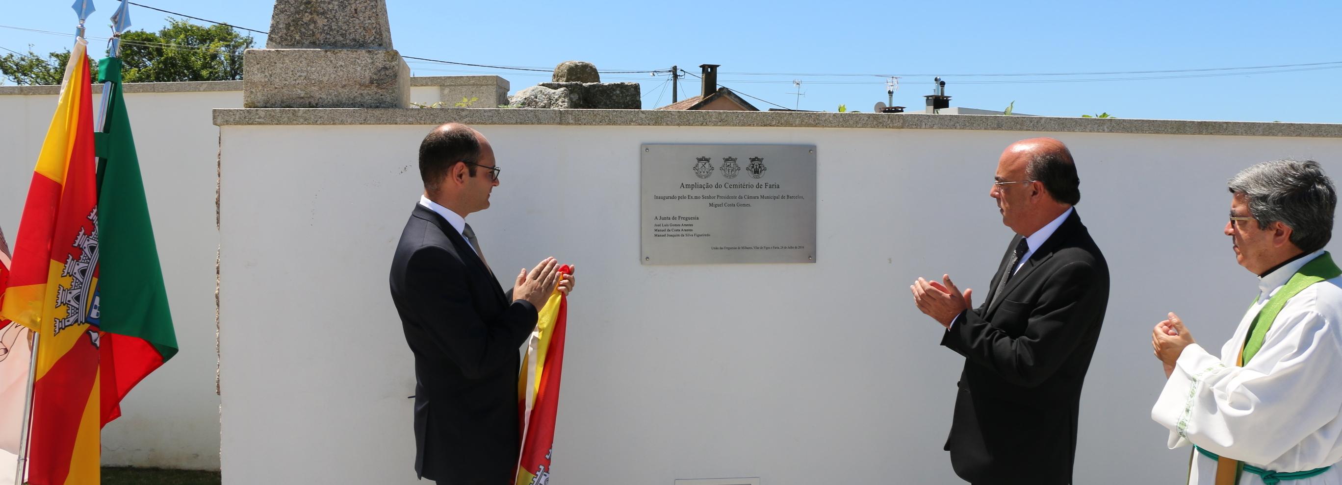 Presidente da Câmara inaugurou ampliação do cemitério de Faria