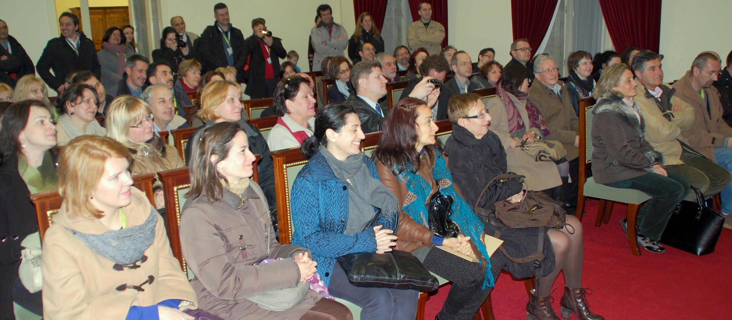 Presidente da Câmara recebeu professores participantes no Erasmus do IPCA