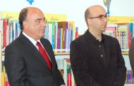 presidente da câmara inaugurou biblioteca escol...