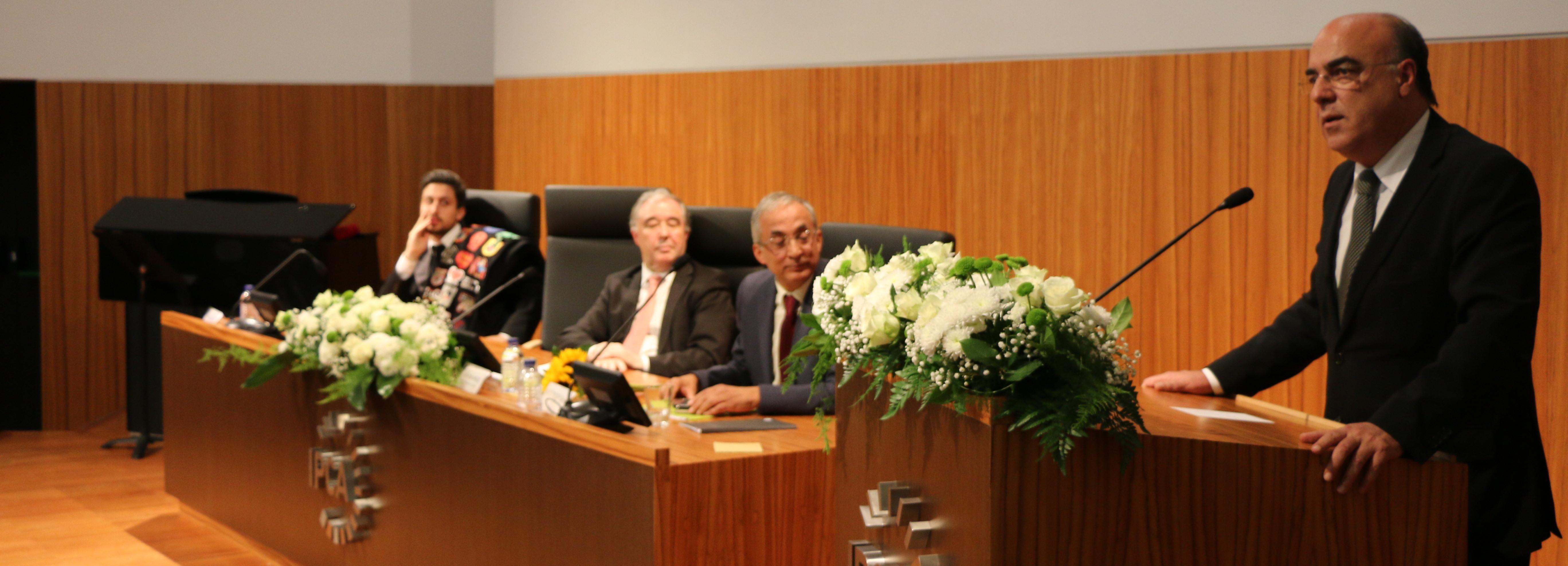 Presidente da Câmara na tomada de posse do presidente do IPCA