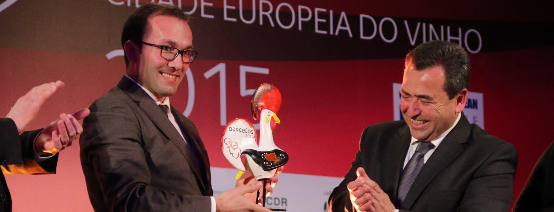 Barcelos distinguido com Diploma de Mérito na Gala da Cidade Europeia do Vinho