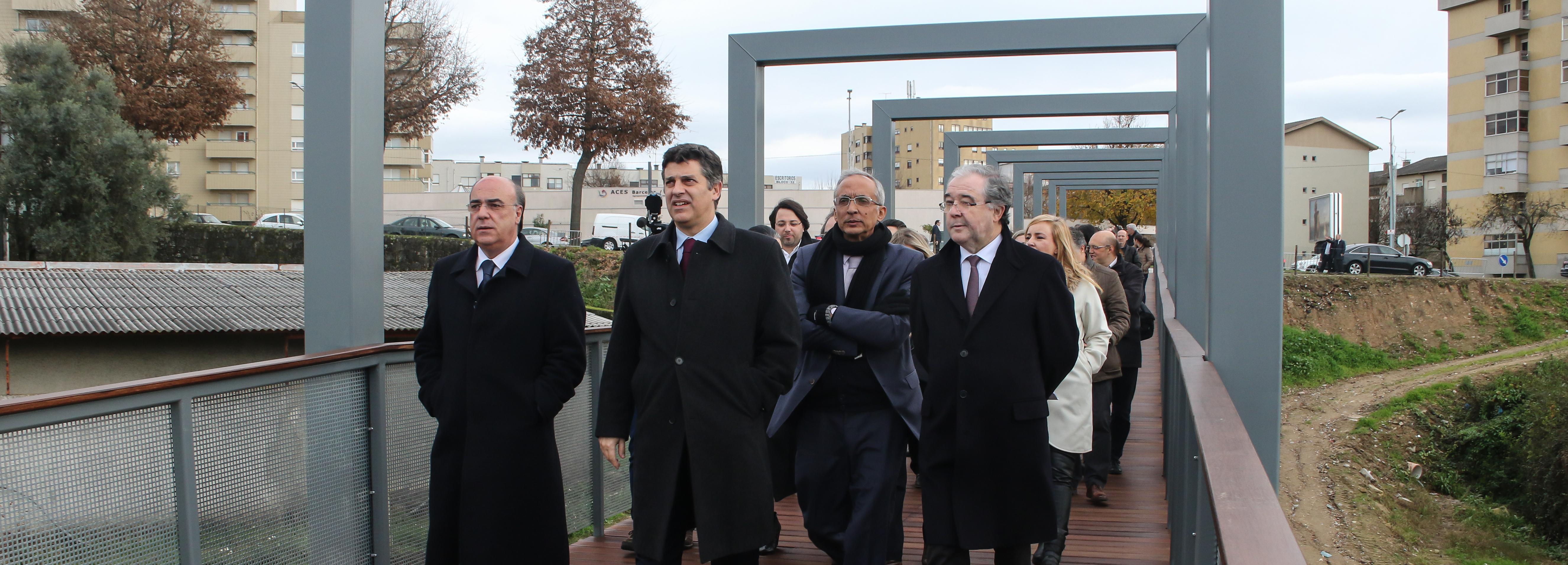 Ministro da Economia inaugurou acesso pedonal ao IPCA