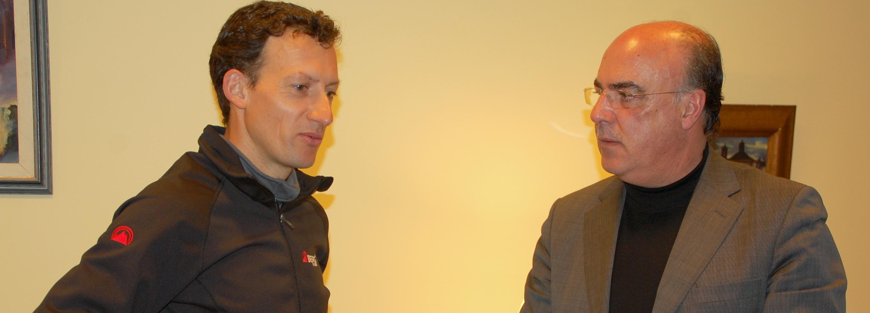 Presidente da Câmara recebeu o maratonista Carlos Sá