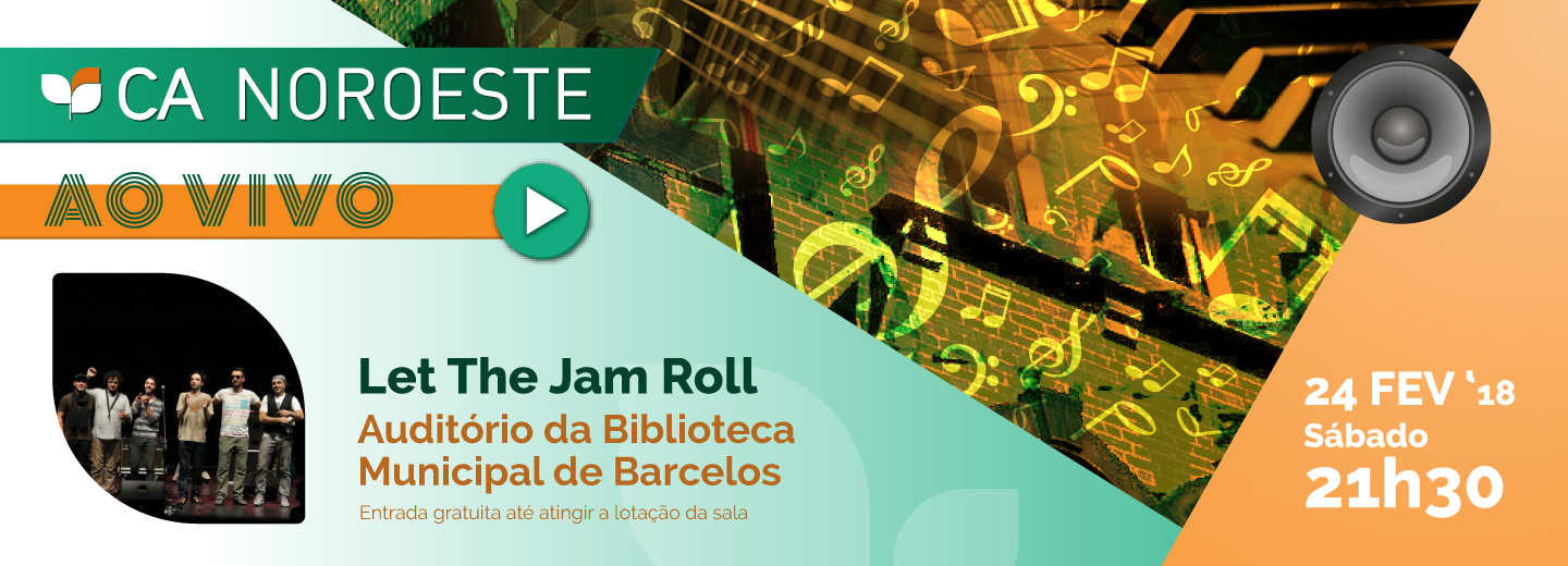 Let the Jam Roll atuam no auditório da Biblioteca Municipal de Barcelos